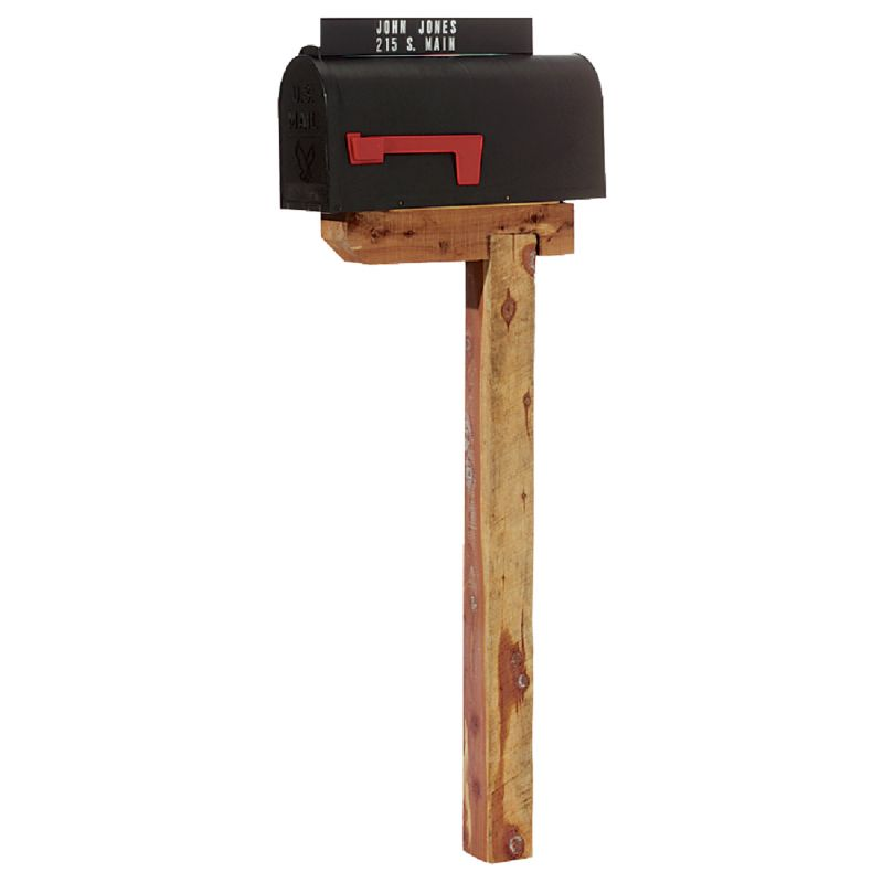 Flambeau T2 Plastic Post Mount Mailbox Medium, Black