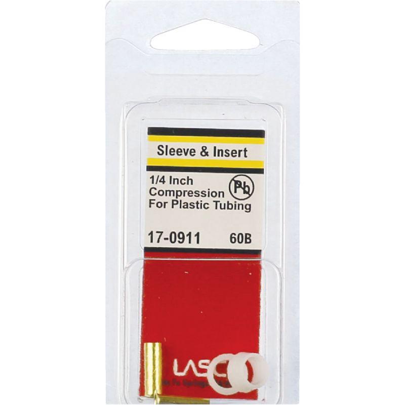 """Lasco Plastic & Brass Compression Inserts 1/4"""" OD"""