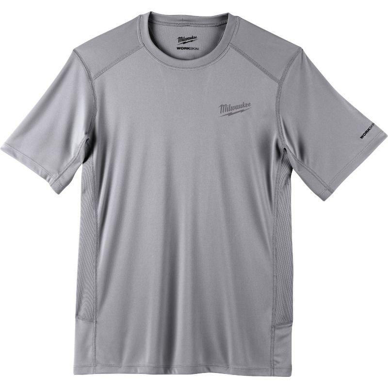 Milwaukee Workskin Lightweight Performance T-Shirt L, Gray, Short Sleeve