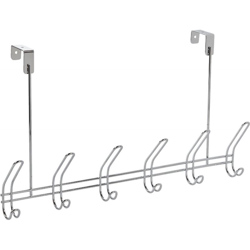 iDesign Classico Over-The-Door Hook Rail Chrome