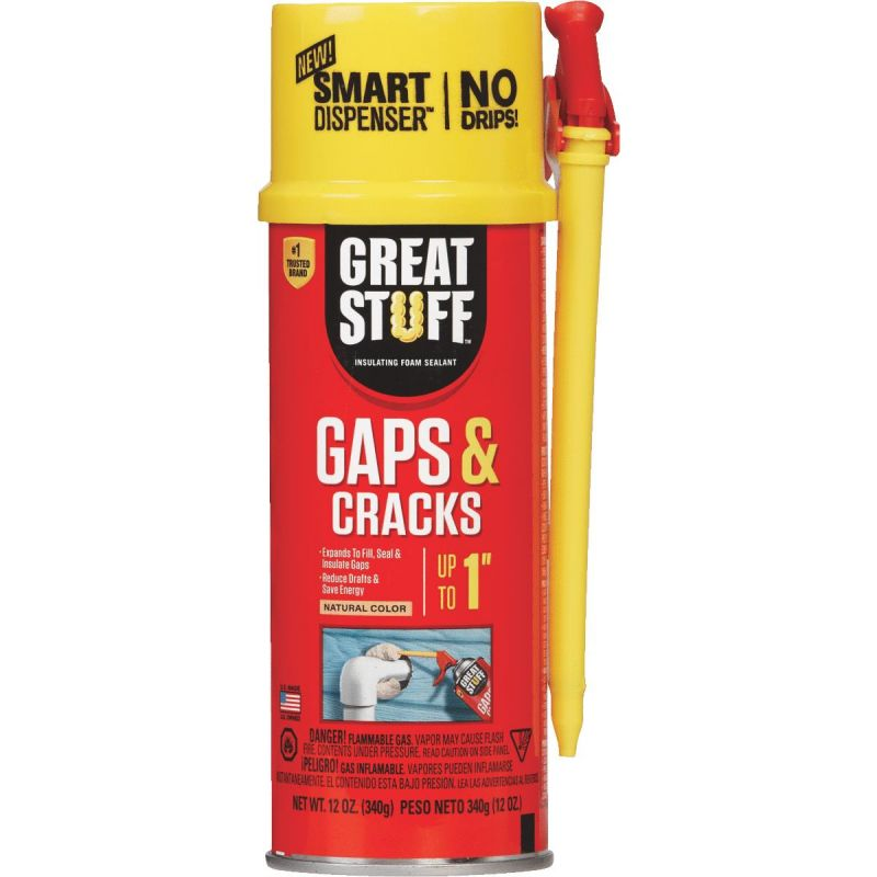 GREAT STUFF Smart Dispenser Gaps & Cracks Insulating Foam Sealant 12 Oz., Natural