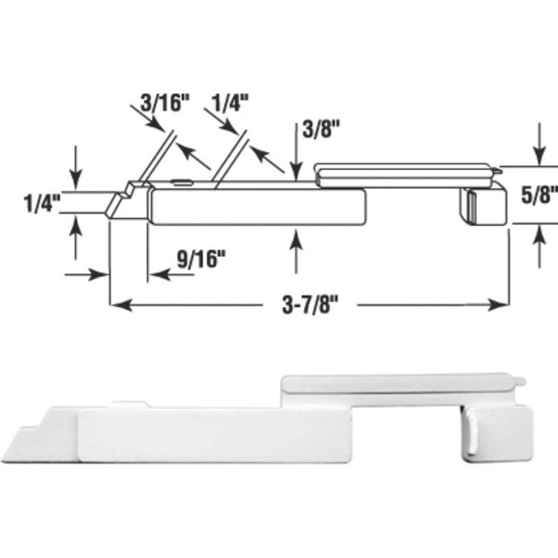 Prime-Line Plastic Slide Bolt White