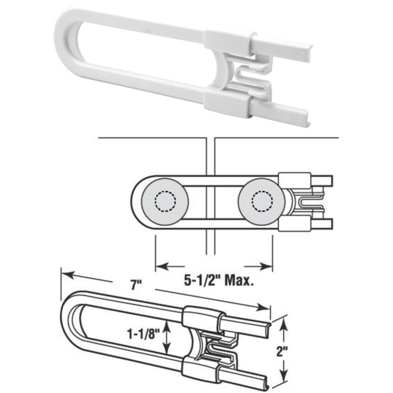Cabinet & Drawer Slide Lock White