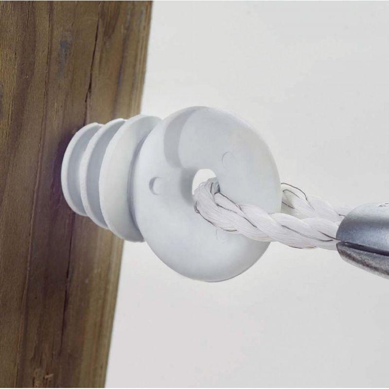 Dare Ring Electric Fence Insulator White, Screw-In