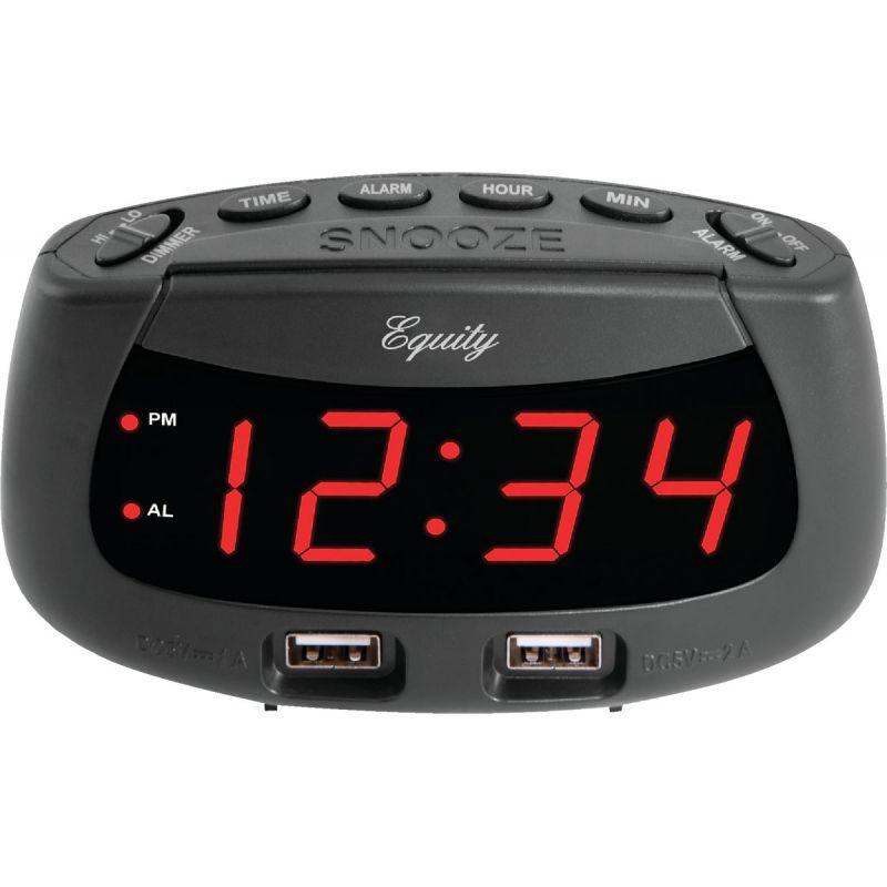 La Crosse Technology Equity Dual USB Electric Alarm Clock