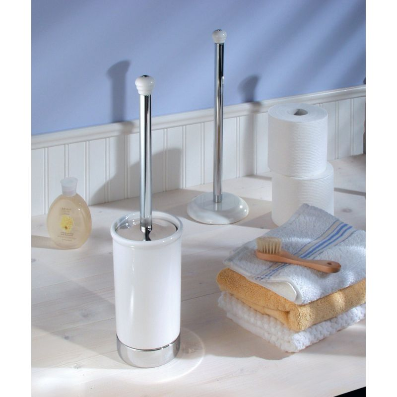 InterDesign York Toilet Bowl Brush With Caddy White
