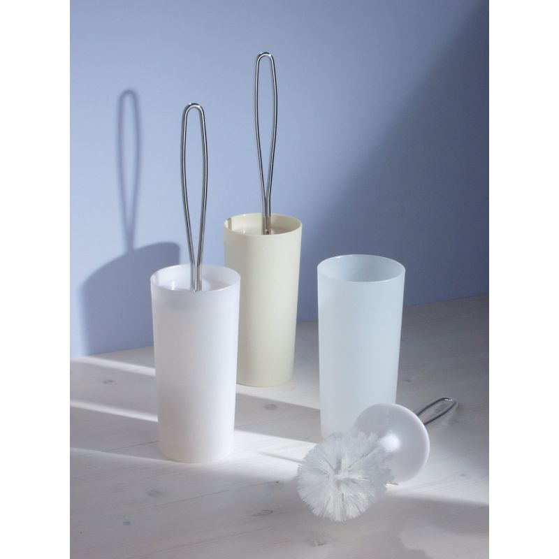 InterDesign Loop Toilet Bowl Brush With Caddy White