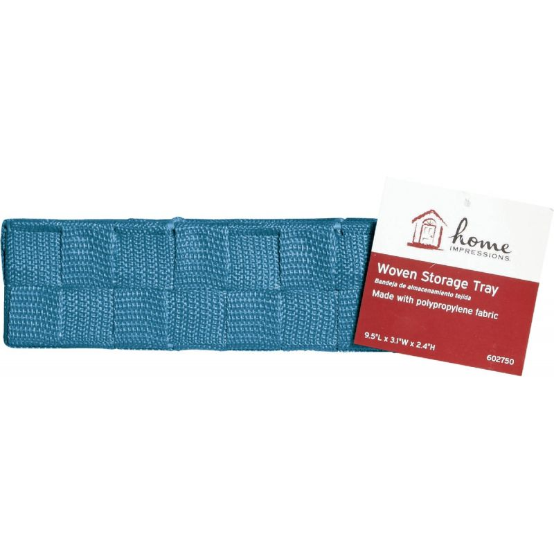 Home Impressions Woven Storage Tray Blue