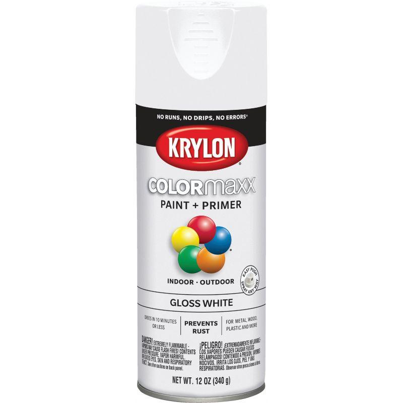 Krylon ColorMaxx Spray Paint 12 Oz., White