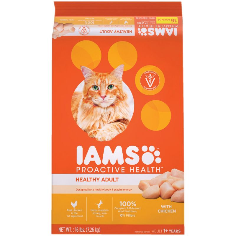 Iams Proactive Health Adult Dry Cat Food 16 Lb.