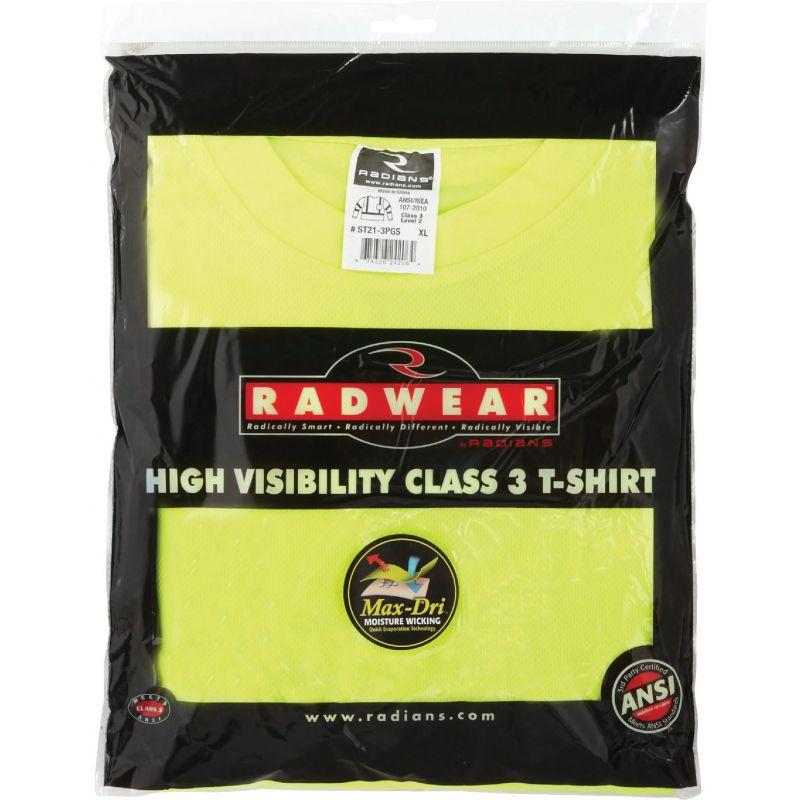 Radians Rad Wear Class 3 Long Sleeve Safety T-Shirt XL, Hi-Vis Green