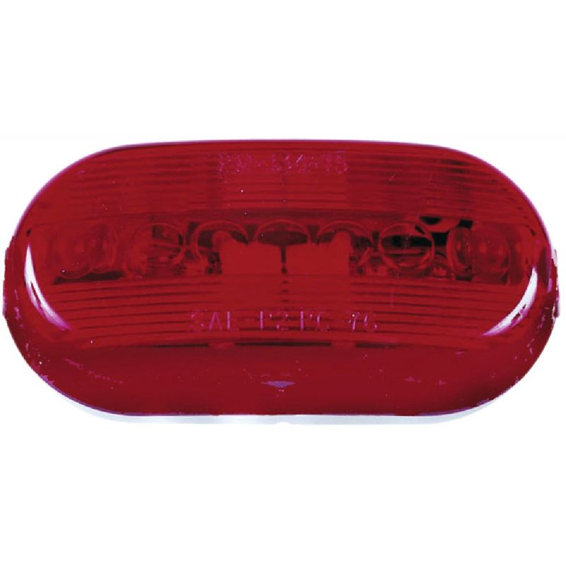 Peterson Oblong Clearance And Side Marker Light Red, Oblong