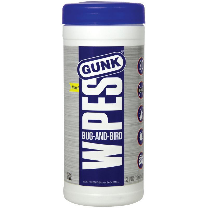 Gunk Wipes Bug Remover 20 Count