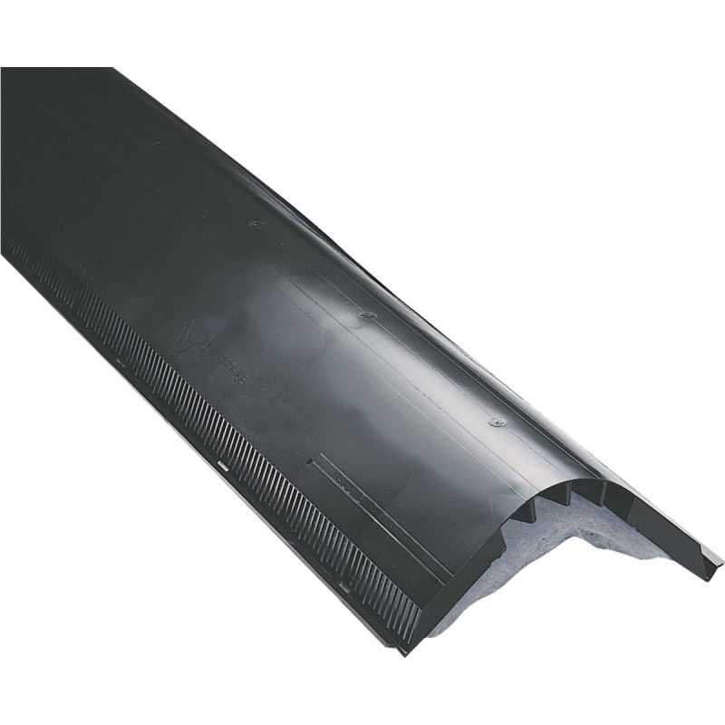 Air Vent Attic-Aire Filtered Shingle-Over Ridge Vent 12 In. X 4 Ft., Black (Pack of 10)