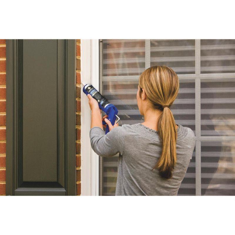 GE Supreme Window & Door 100% Silicone Sealant 10.1 Oz, Clear