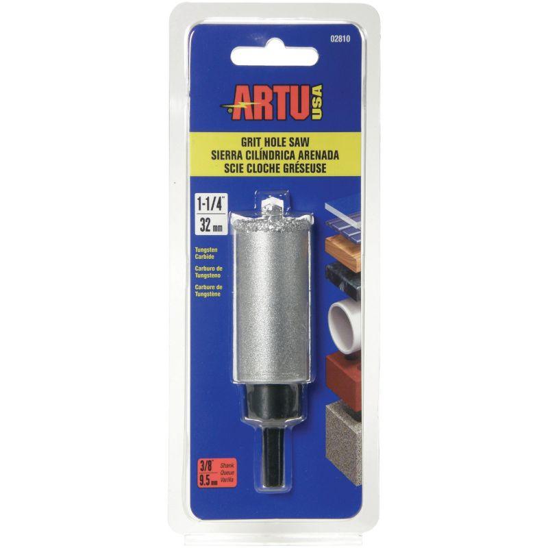 ARTU Tungsten Carbide Hole Saw w/Arbor and Pilot