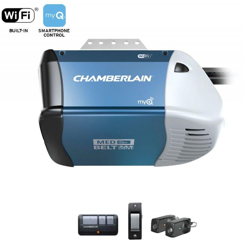 Chamberlain B-353 1/2 HP myQ Smart Belt Drive Garage Door Opener