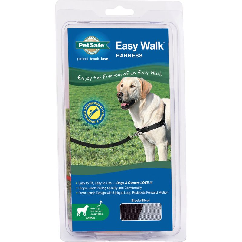 Petsafe Easy Walk Dog Harness 27 In. To 40 In., Black