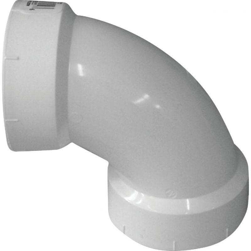 Charlotte Pipe 90 Deg. Schedule 40 Sanitary PVC Elbow 1-1/4 In. Hub X Hub