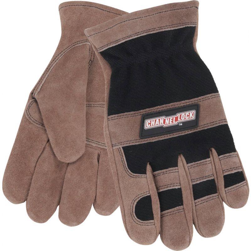Channellock Leather Work Glove 2XL, Brown & Black