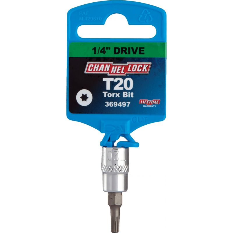Channellock 1/4 In. Drive Torx Bit Socket T20