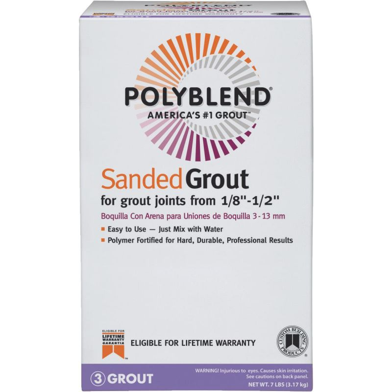 Custom Building Products Polyblend Sanded Tile Grout 7 Lb., Tobacco Brown