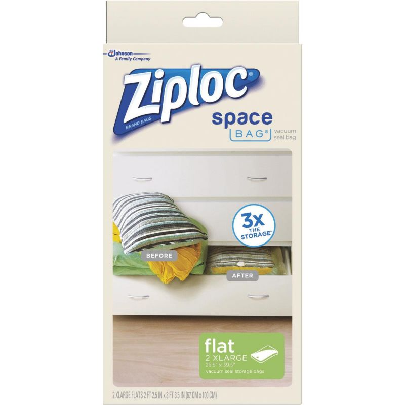 Ziploc Space Bag Vacuum Seal Storage Bag Clear