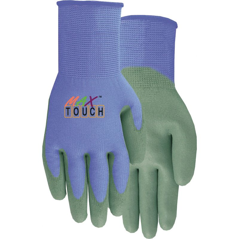 Midwest Quality Glove Max Touch Garden Glove S, Purple & Gray