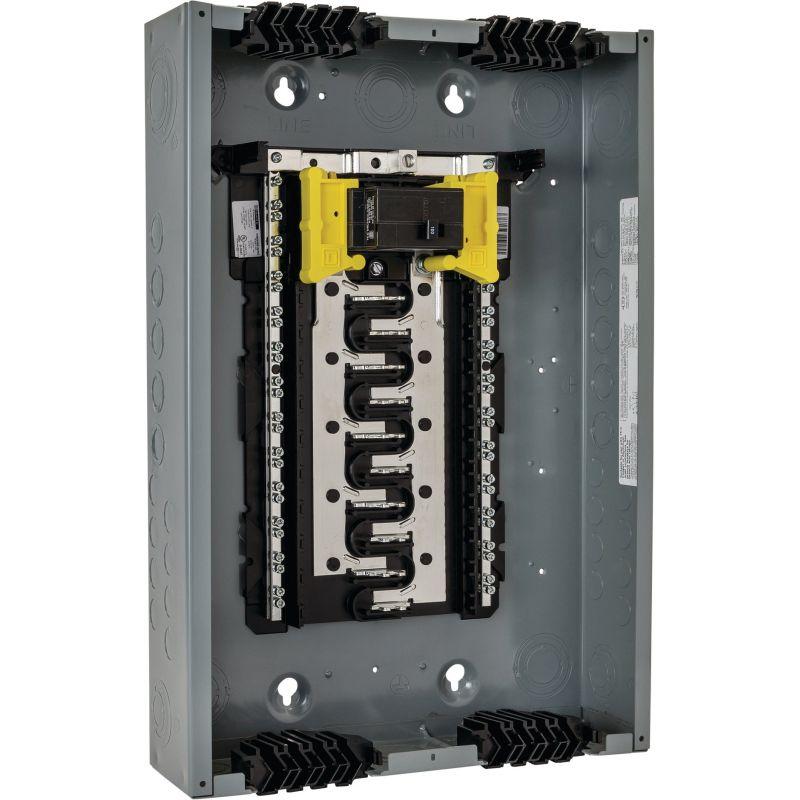 Square D Homeline Qwik-Grip 100A Main Breaker Plug-On Neutral Load Center 100A