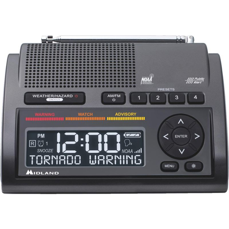 Midland Weather Alert Radio Clock