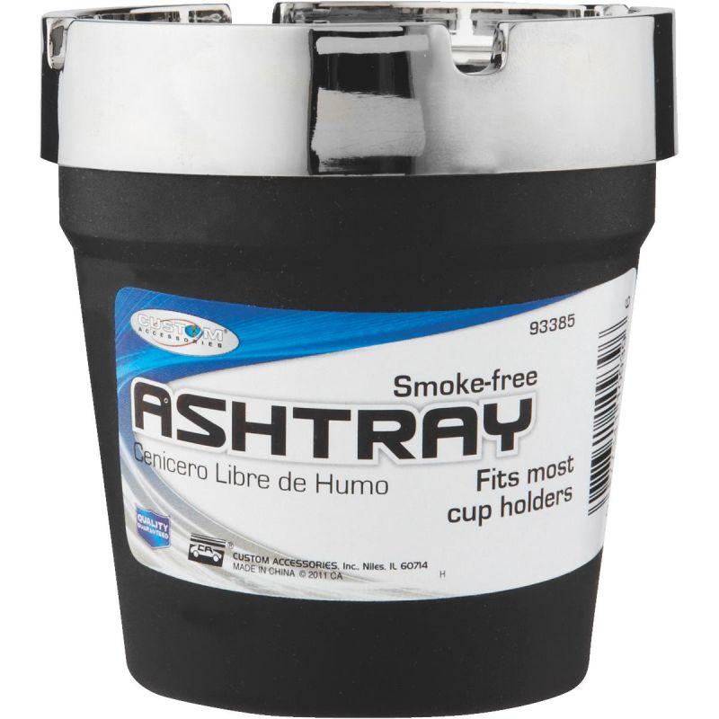 Mini Smokeless Ashtray Black W/Chrome Top