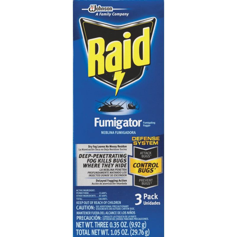 Raid Fumigator Indoor Insect Fogger 0.35 Oz.