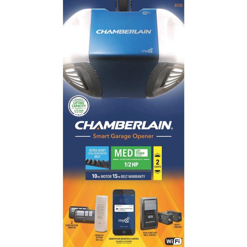 Chamberlain B-550 Smartphone-Controlled Belt Drive Garage Door Opener