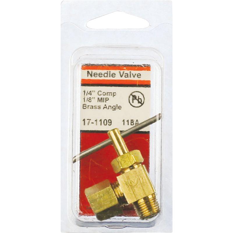 """Lasco Angle Needle Valve 1/4"""" C X 1/8"""" MIP"""