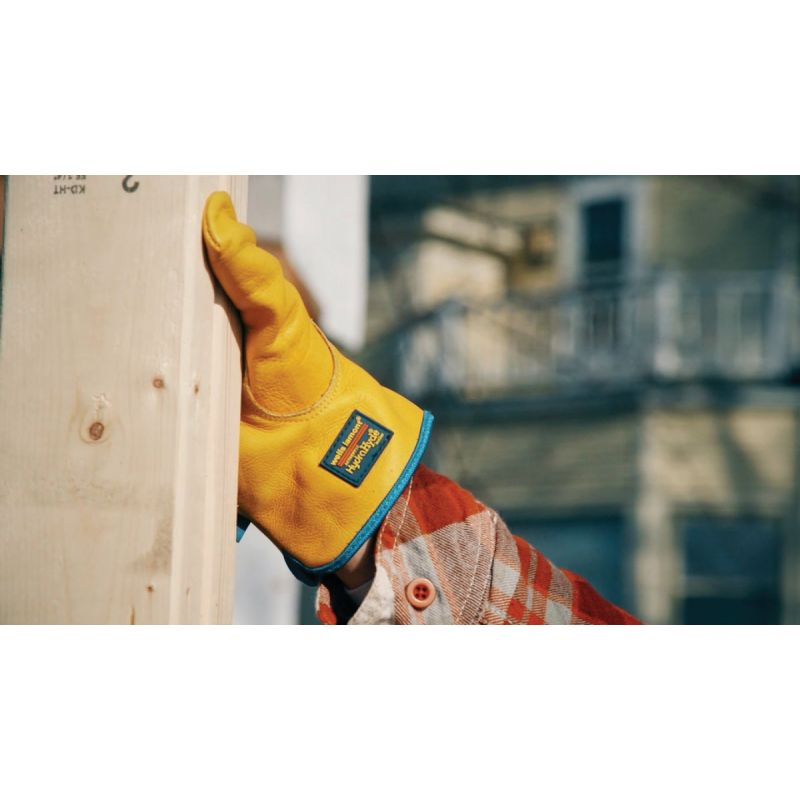 Wells Lamont HydraHyde Cowhide Leather Work Glove XL, Tan