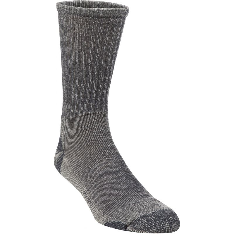Hiwassee Trading Company Lightweight Hiking Crew Sock L, Charcoal