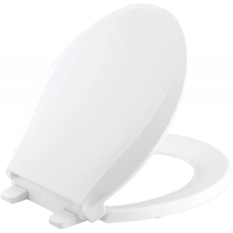 Kohler Cachet Quiet-Close Toilet Seat w/Grip-Tight White, Round
