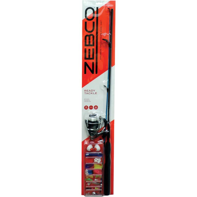 Zebco Fishing Rod & Spinning Reel With Tackle Kit