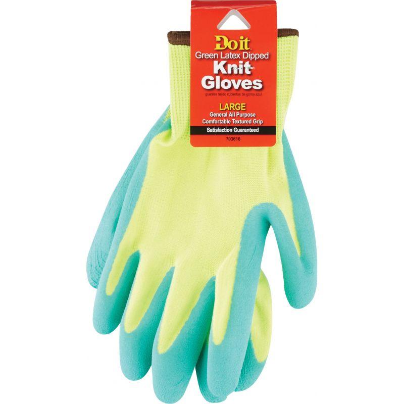 Do it Grip Latex Coated Glove L, Green