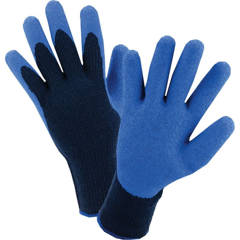 West Chester Latex Coated Polyester Winter Glove M, Blue