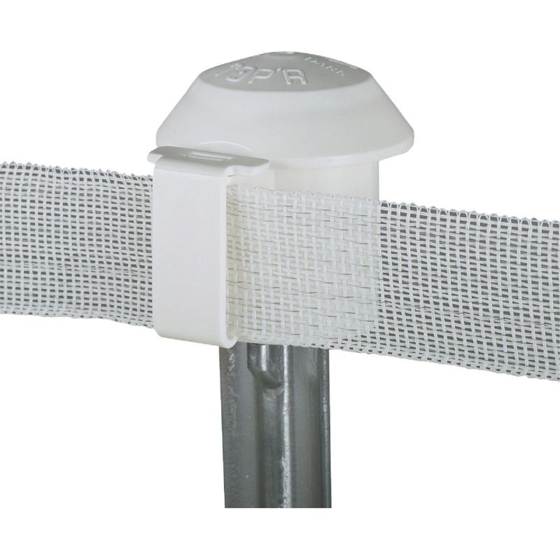 Dare T-Post Safety Top'R Electric Fence Insulator White, Topper