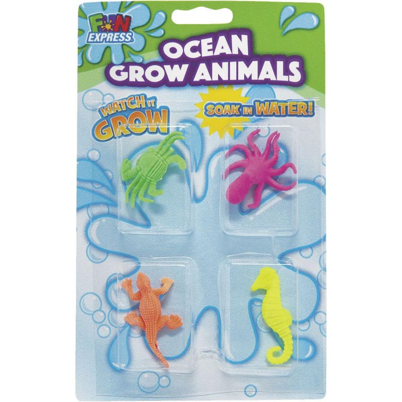 Fun Express Small Ocean Grow Animals Assorted (Pack of 12)