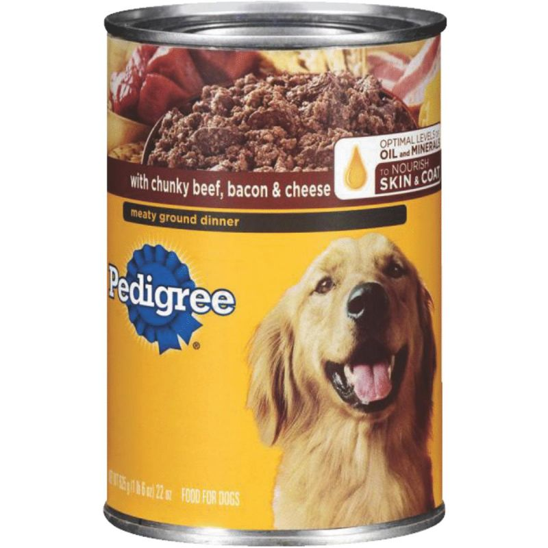 Pedigree Meaty Ground Dinner Wet Dog Food 22 Oz.