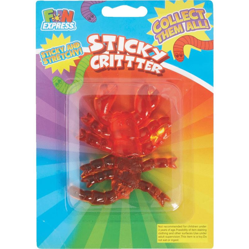 Fun Express Sticky Critter Assorted (Pack of 12)