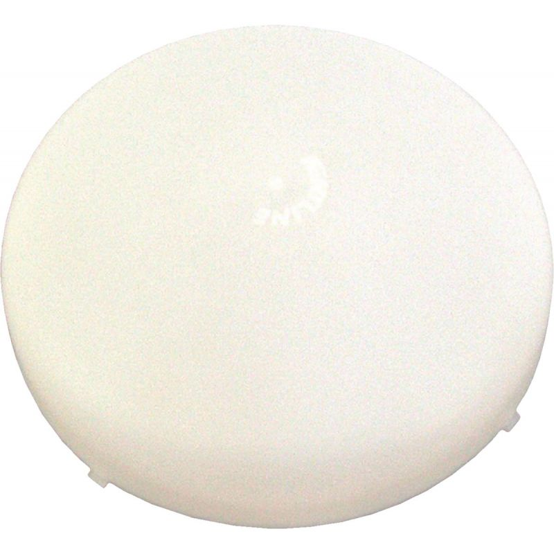 United States Hardware Mobile Home Exhaust Fan Cover 8-1/4 In. W.x 8-1/4 In. L., White