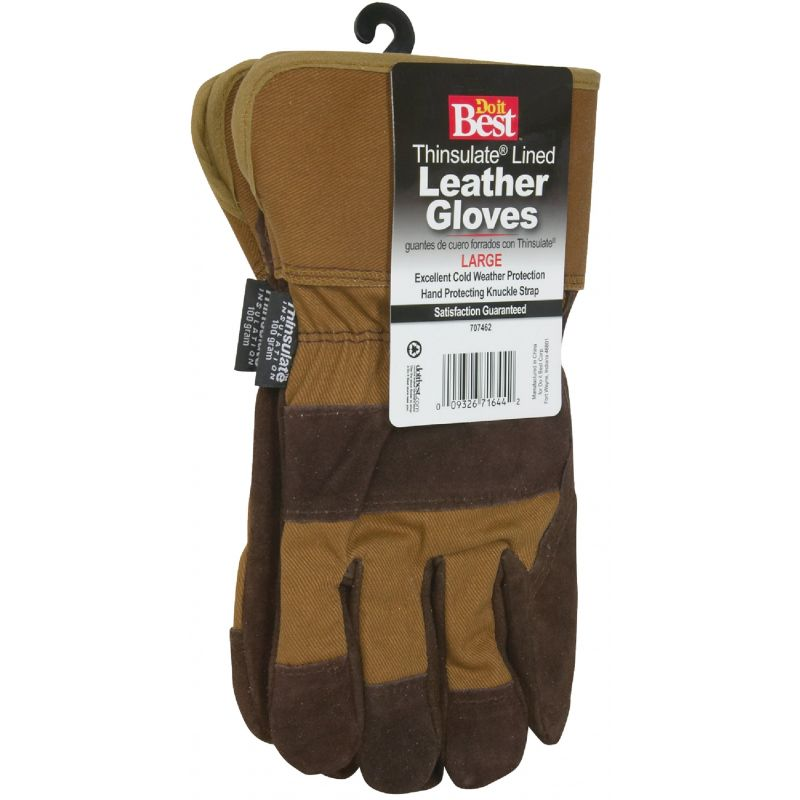 Do it Best Leather Winter Work Glove M, Assorted