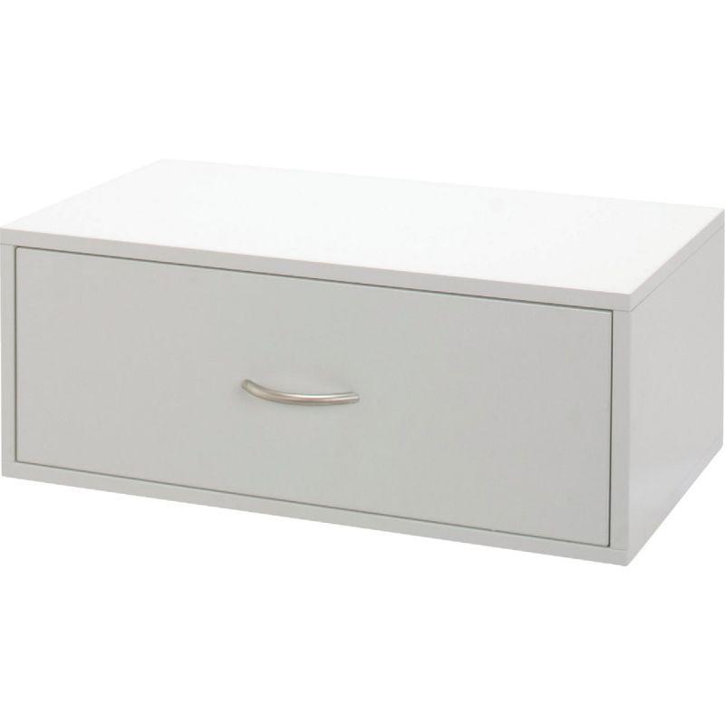 FreedomRail Double Hung Organization Box White, 1 Drawer