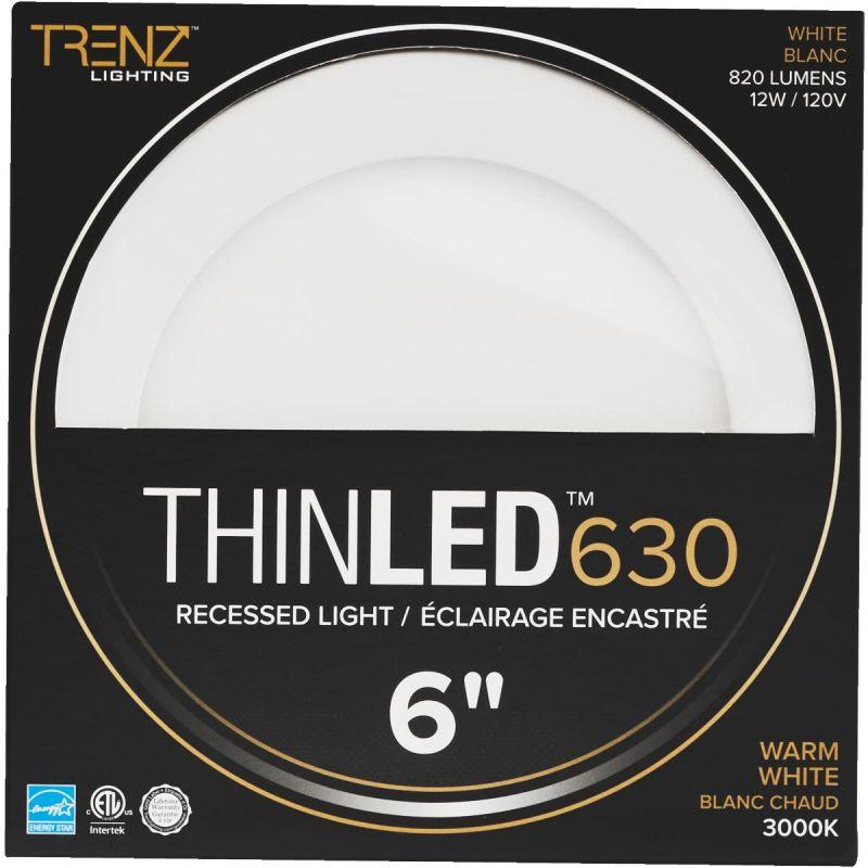 Liteline Trenz ThinLED 3000K Recessed Light Kit 6 In., White