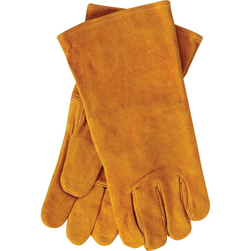 Home Impressions Leather Hearth Glove 1 Size Fits All, Tan