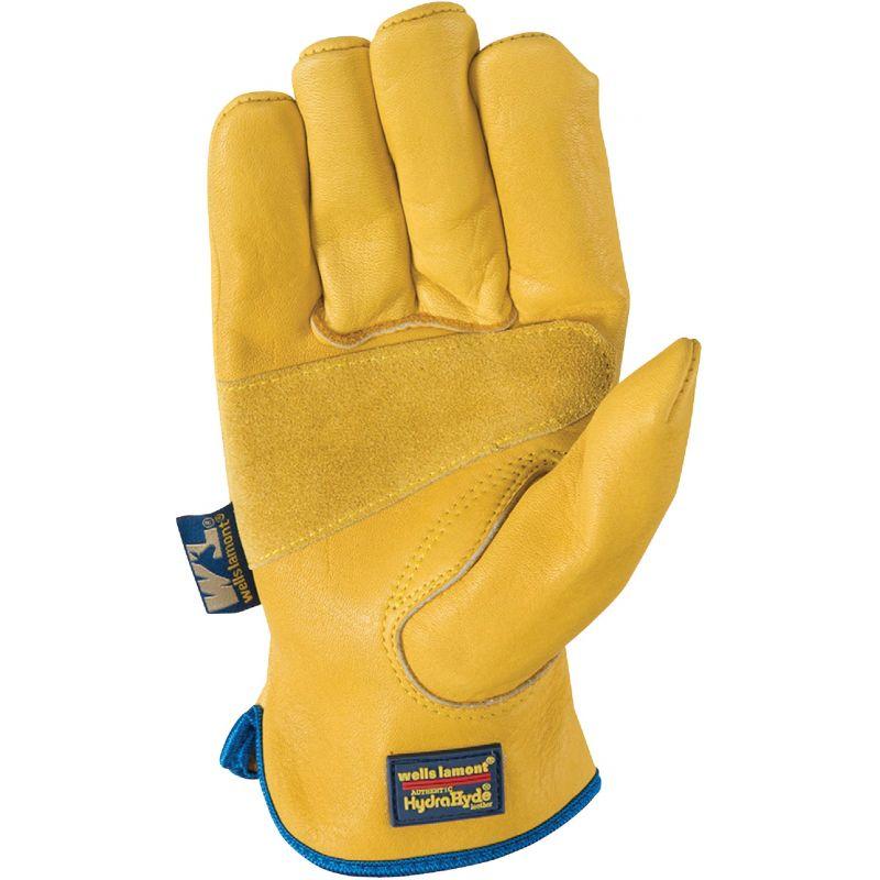 Wells Lamont HydraHyde Elasticized Wrist Work Glove L, Tan